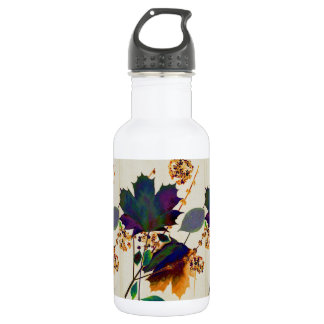 Autumn Leaves in Royal Colors Water Bottle