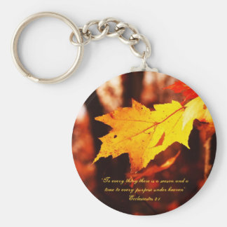 Autumn Leaves in the Poconos Keychain