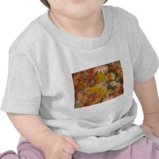 Autumn leaves in the rain t-shirts