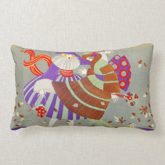 AUTUMN LEAVES IN THE WIND /BEAUTY FASHION LUMBAR PILLOW