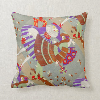 AUTUMN LEAVES IN THE WIND /BEAUTY FASHION THROW PILLOW