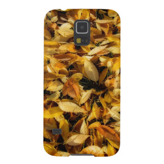 Autumn Leaves in Yellow and Gold by Lois Bryan Galaxy S5 Cover