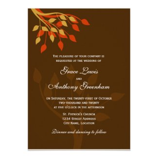 Autumn Leaves Invitation