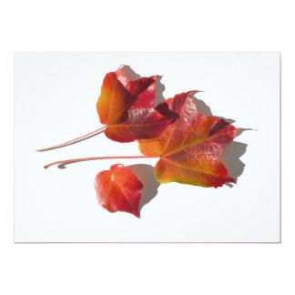 Autumn Leaves Custom Invite