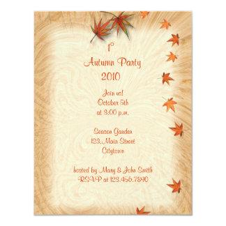 "Autumn Leaves Invitation 4.25"" X 5.5"" Invitation Card"