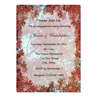 Autumn Leaves 5.5x7.5 Paper Invitation Card