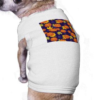Autumn Leaves & Jack-O-Lanterns Doggie Tshirt