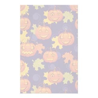 Autumn Leaves & Jack-O-Lanterns Stationery