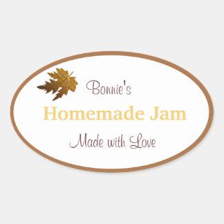 Autumn Leaves Jam Label - Customize