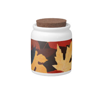 Autumn Leaves Jar Candy Dish
