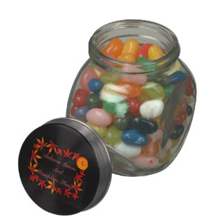 Autumn Leaves Jelly Belly Candy Jar