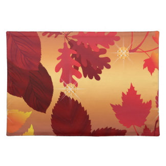 Autumn Leaves Jewel Shimmer Placemat