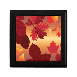 Autumn Leaves Jewel Sun Shimmer Keepsake Box