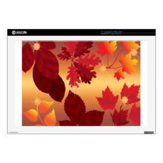 """Autumn Leaves Jewel Sun Shimmer Skin For 17"""" Laptop"""