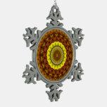 Autumn Leaves Kaleidoscope Mandala Ornaments