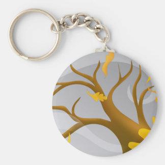 Autumn Leaves Basic Round Button Keychain