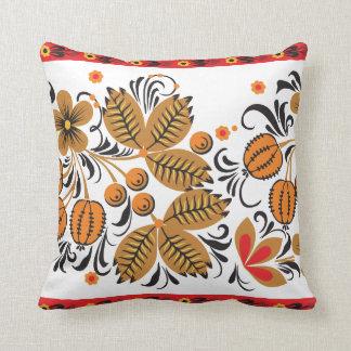 Autumn Leaves Khokhloma Pillow