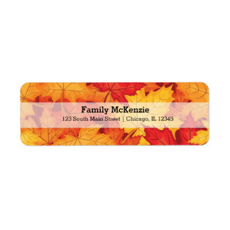Autumn leaves label