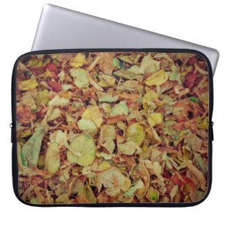 Autumn leaves computer sleeves