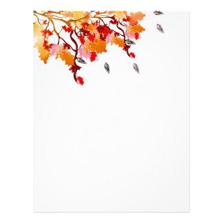 Autumn leaves Letterhead
