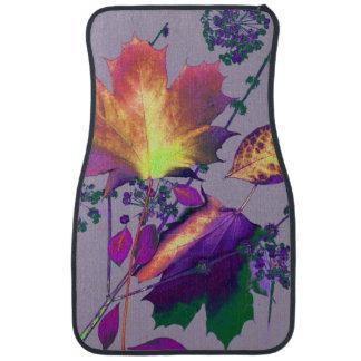 Autumn Leaves Lilac Car Mat