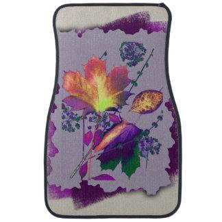 Autumn Leaves Lilac with Purple Edges Car Mat