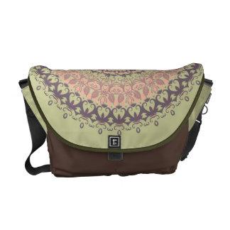 Autumn Leaves Mandala Messenger Bag