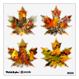 Autumn Leaves Maple Leaf Wall Decal