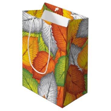 Professional Business Autumn leaves medium gift bag