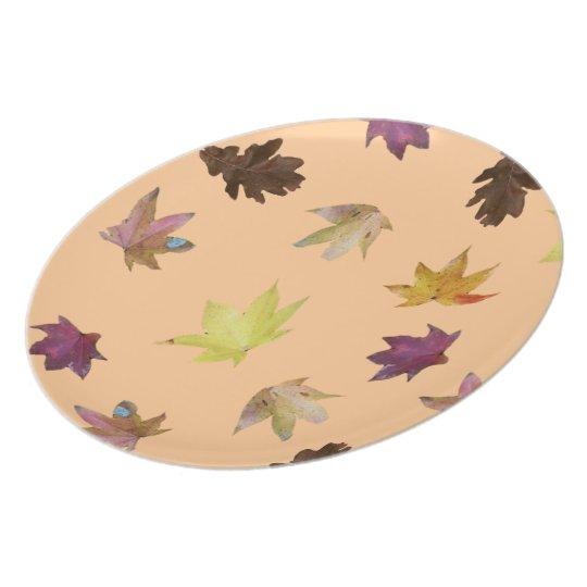 Autumn Leaves Melamine Plate