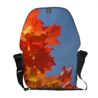 Autumn Leaves Messenger Bags custom Blue Sky