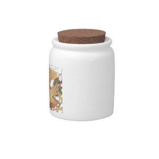 Autumn Leaves Mosaic Frame Candy Dish