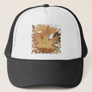 Autumn Leaves Mosaic Frame Trucker Hat