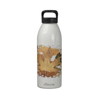 Autumn Leaves Mosaic Frame Water Bottles