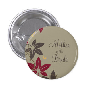 Autumn Leaves Mother of the Bride Pinback Button