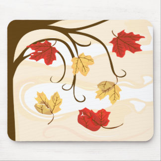 Autumn Leaves Must Fall Mouse Pad