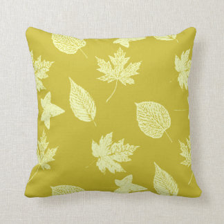 Autumn leaves - mustard and light yellow pillows