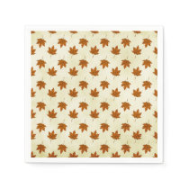 autumn leaves napkin