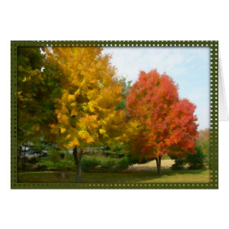Autumn Leaves Note Card