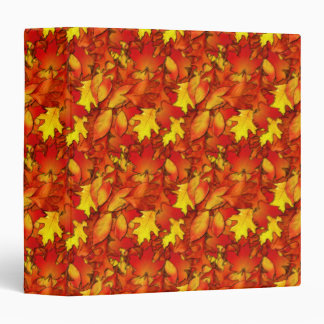 Autumn Leaves Notebook 3 Ring Binder