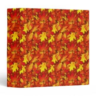 Autumn Leaves Notebook 3 Ring Binders