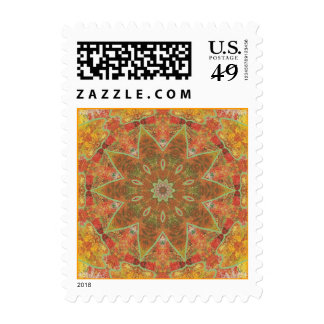 Autumn leaves - oak abstract kaleidoscope stamps 2