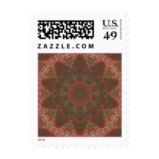 Autumn leaves - oak abstract kaleidoscope stamps
