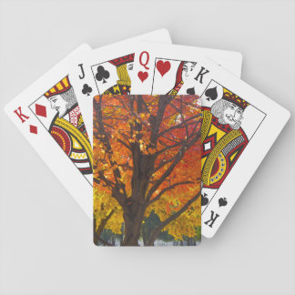 Autumn Leaves of Yellow and Orange Playing Cards