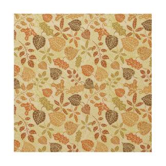 Autumn Leaves Old Tile Earth Tone Fall Decor