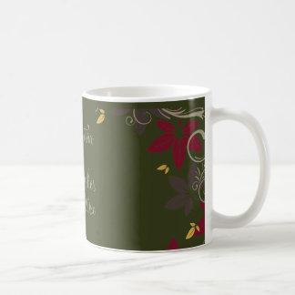 Autumn Leaves on Green Wedding Coffee Mug