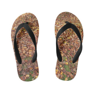 Autumn Leaves on Ground Kid's Flip Flops
