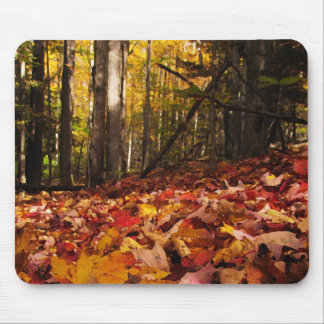 Autumn Leaves on the Forest Floor Mouse Pads