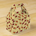 �Autumn Leaves� on Warm Yellow � Gable Favour Box