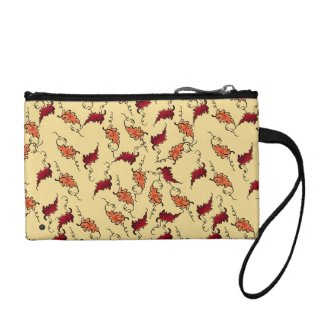 """Autumn Leaves"" on Warm Yellow – Wristlet"